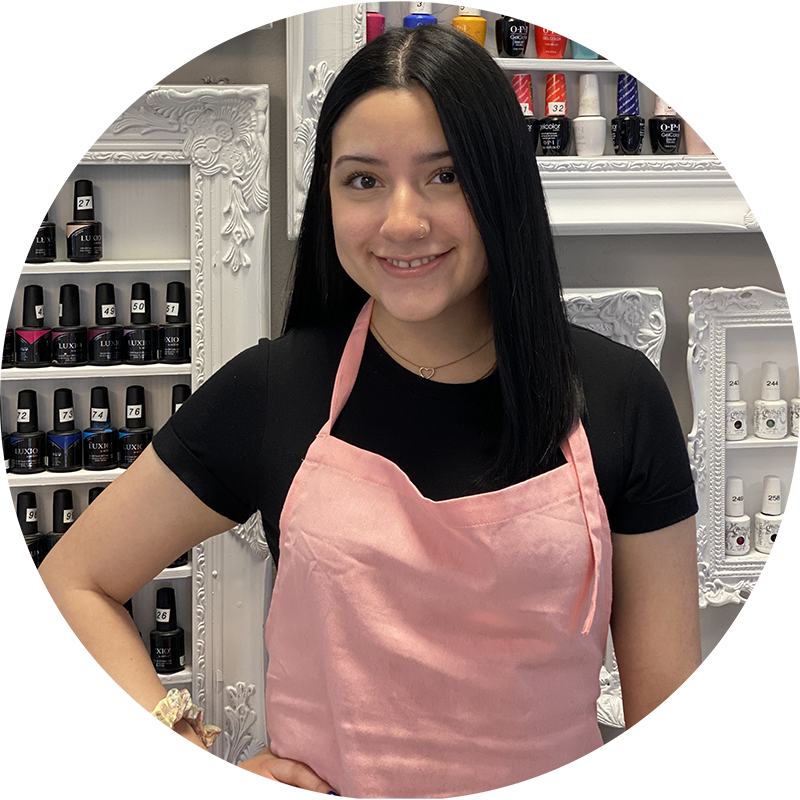 Natalie Caraveo is a junior nails artist and D'Licious Nails Nail Art Studio in El Paso, Texas