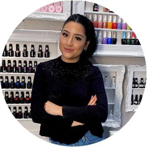 Natalie Caraveo is a house nail artist at D'Licious Nails Nail Art Studio in El Paso, Texas